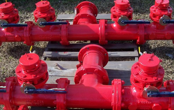 Red valves-Belzona